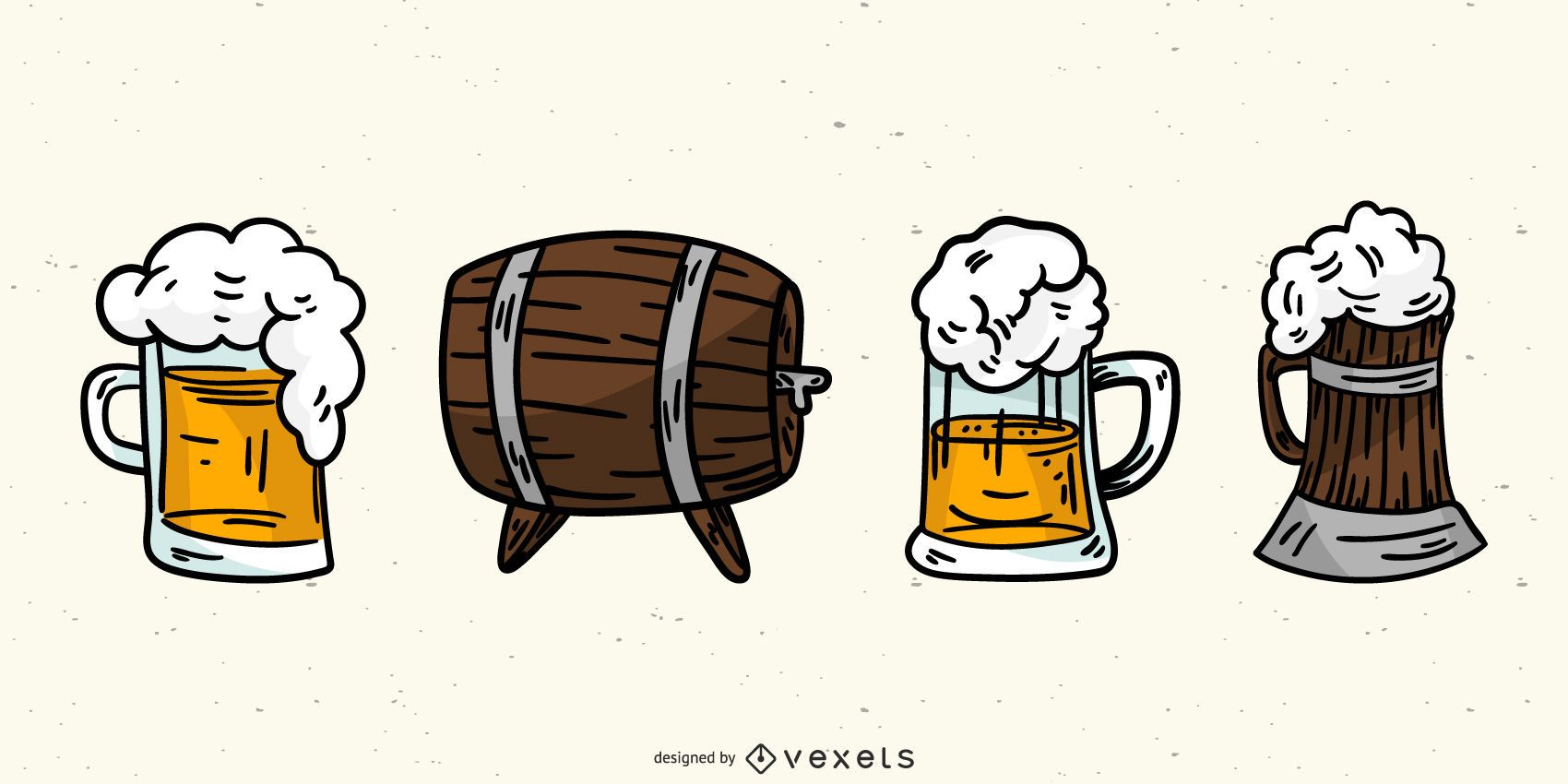 Germany Beer Elements Vector Set
