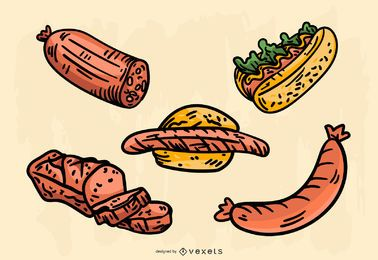 Conjunto de vetores de comida alemã