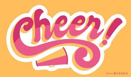 Diseño de letras de alegría