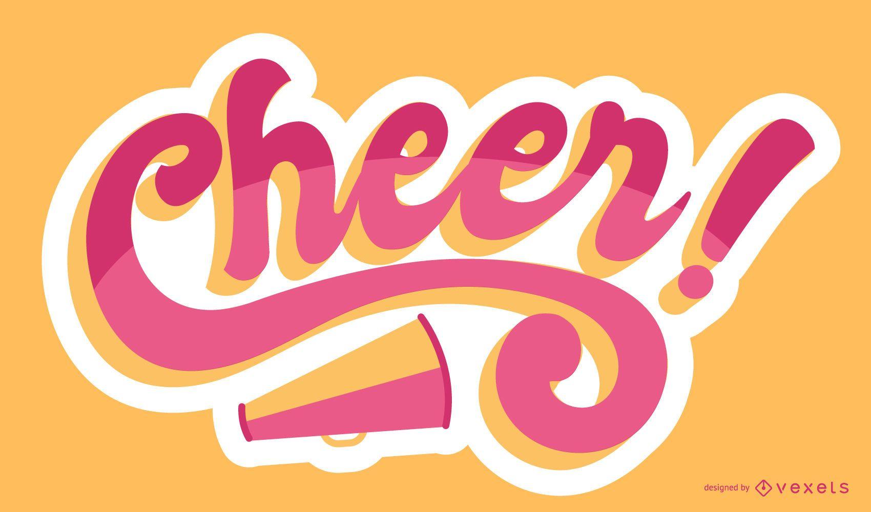 Cheer lettering design