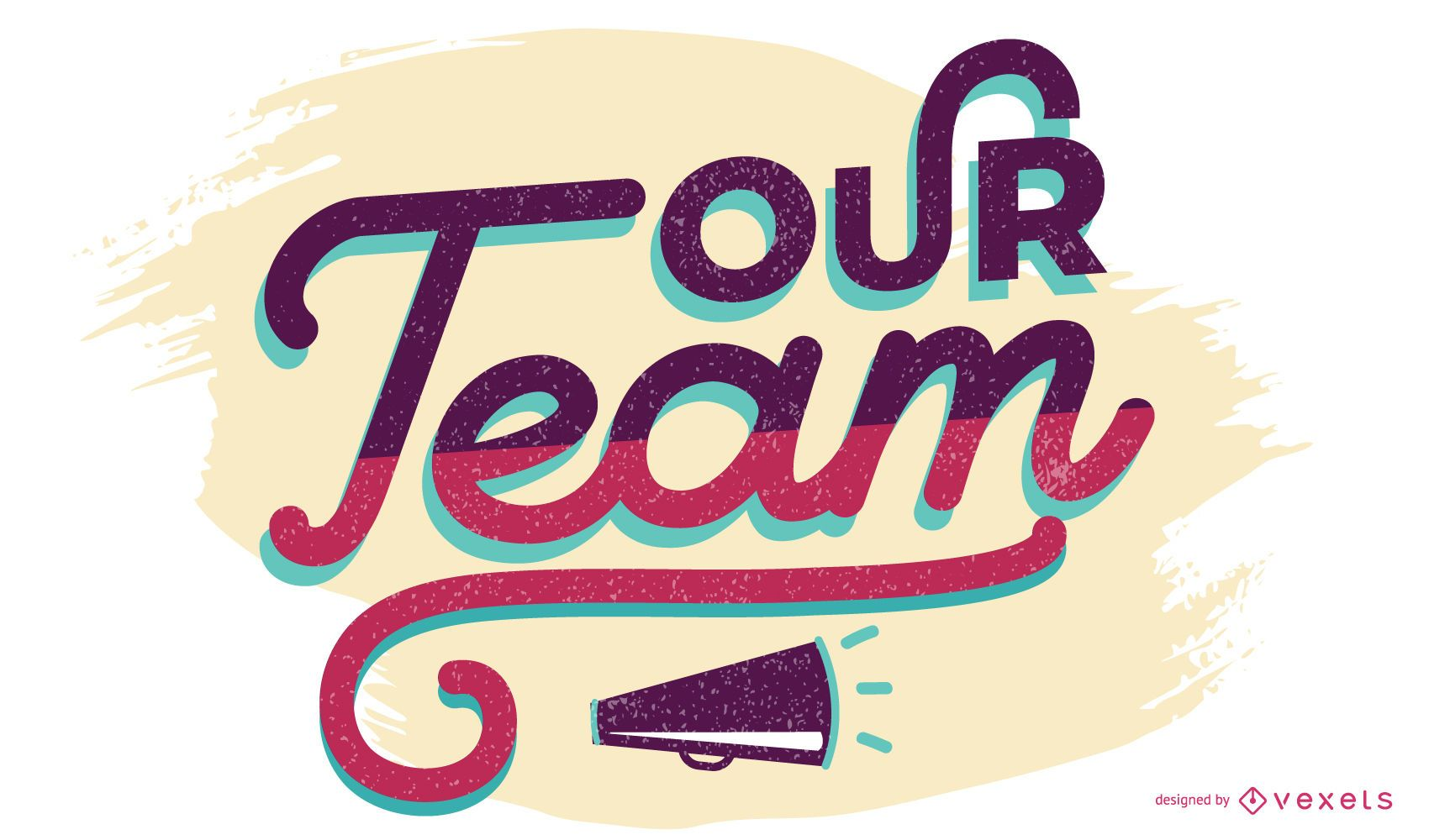 Our team lettering design
