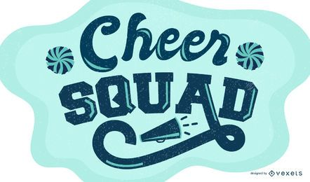 Cheer squad lettering design