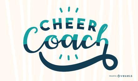 Desenho de letras do treinador de torcida