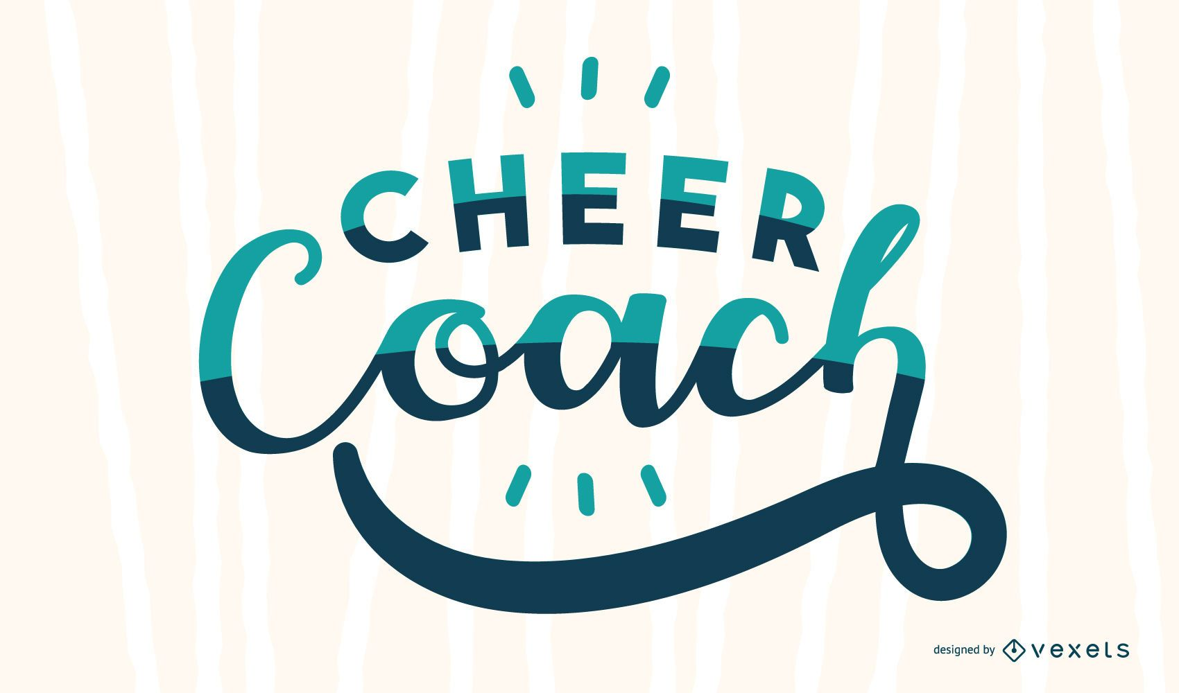 Cheer coach lettering design