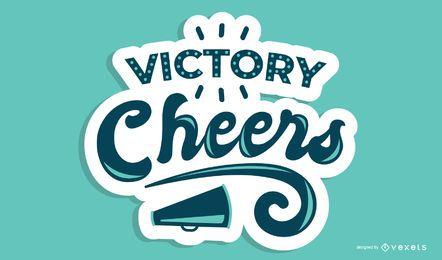 Diseño de letras Victory Cheers