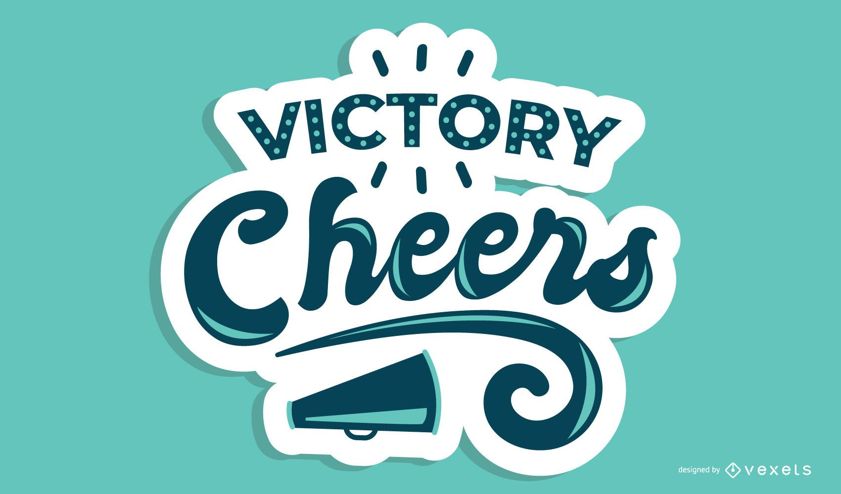 Victory Cheers Lettering Design