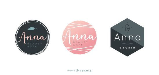 Spa logo design set