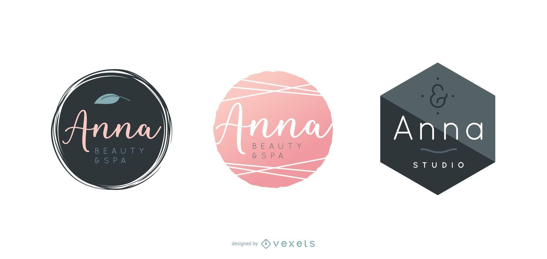 Spa logo design set