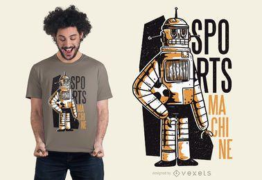 Maquina de diseño de camiseta deportiva.
