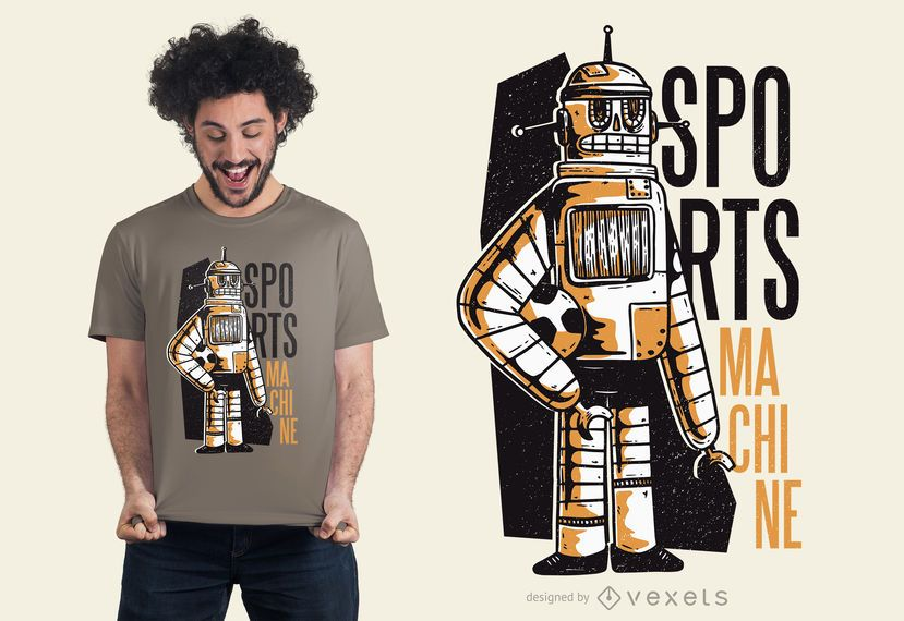 Sports machine t-shirt design