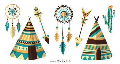 Native American Icon Design Collection