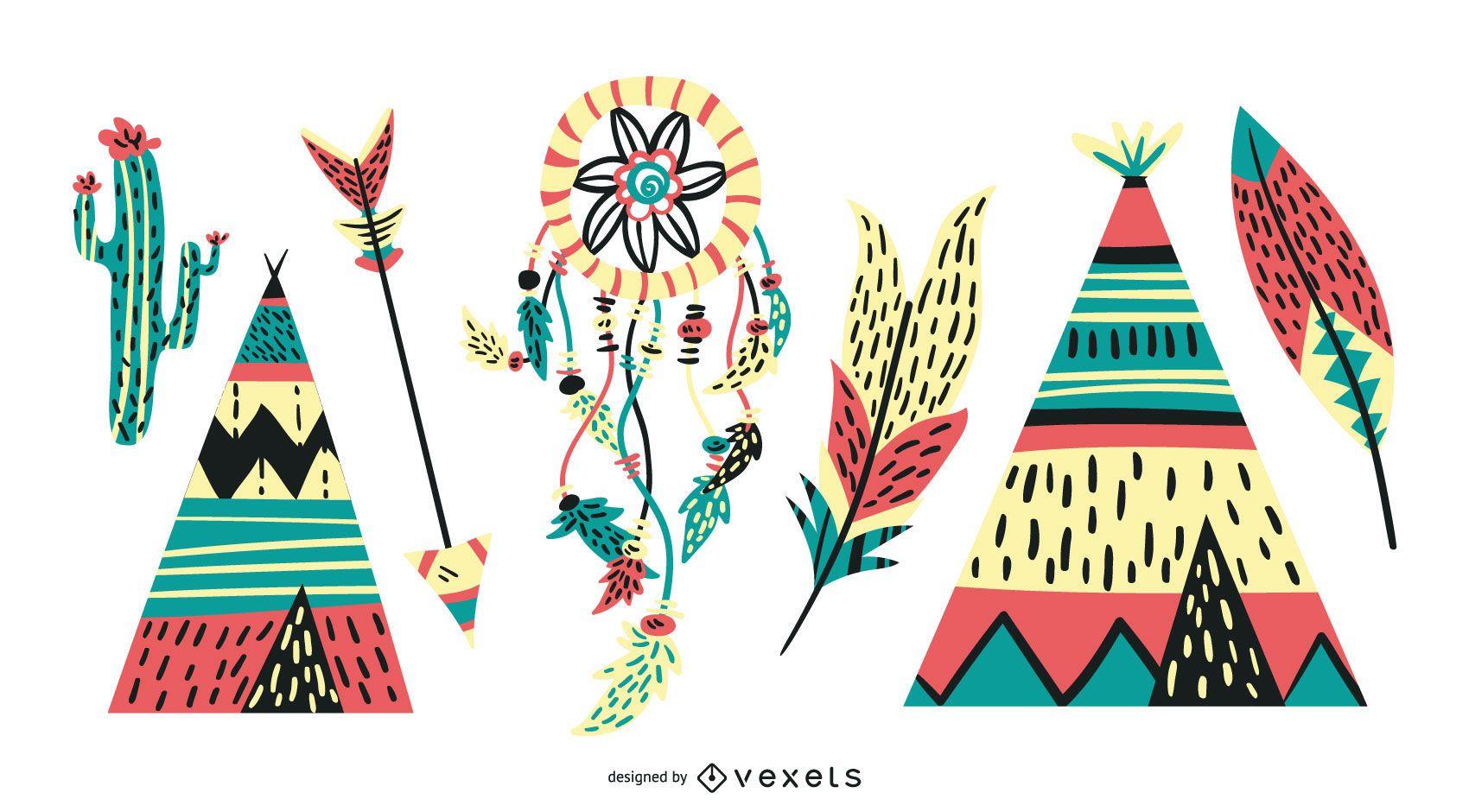 Vibrant Native American Icons