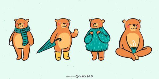 Entzückende Bärensammlung