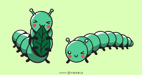 Conjunto bonito da lagarta