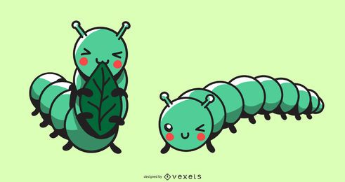 Cute Caterpillar Illustration