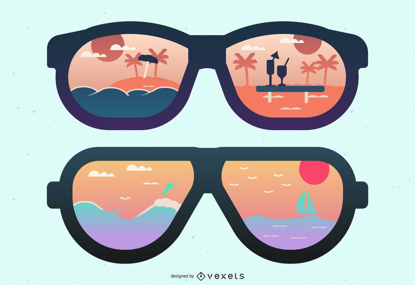 Beach and Island Sunglasses Reflection