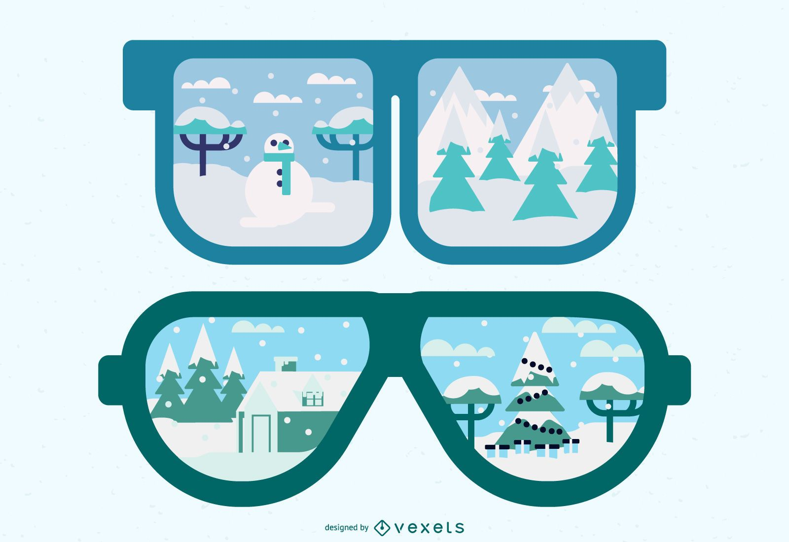 Skyline Reflection in sunglasses
