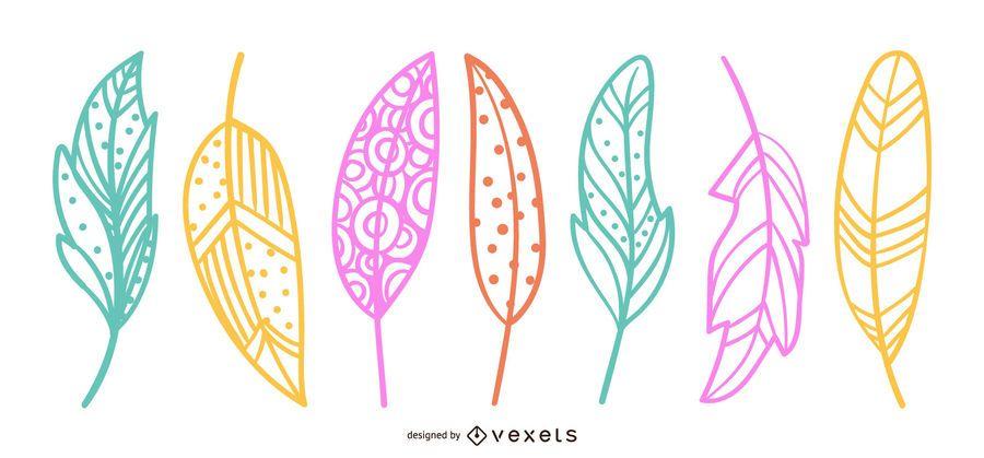 Schöne Blätter Design Illustration