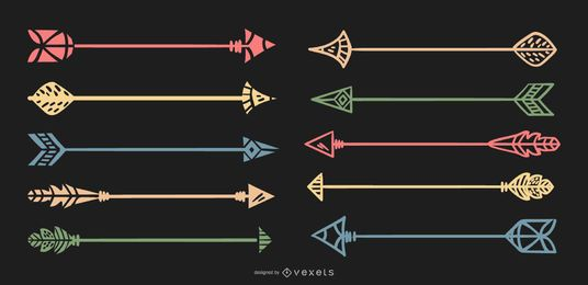Delicate Arrow Collection Illustration