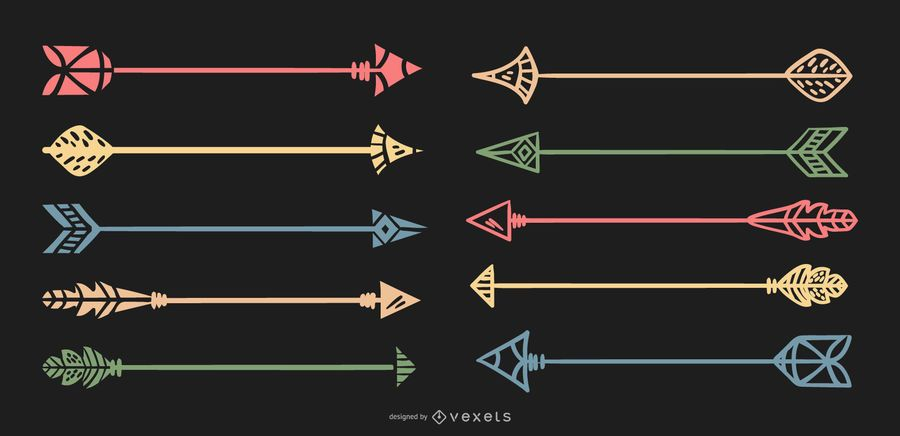 Ilustración de colección de flecha delicada