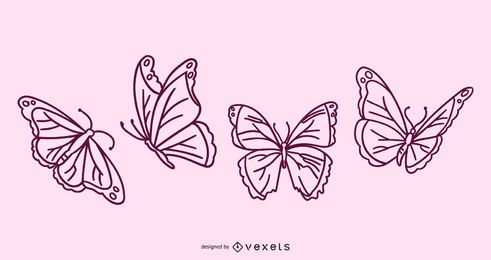 Butterfly Doodle collection