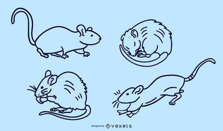 Conjunto de vetores de traço de rato