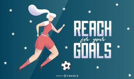 Erreichen Sie für Ihre Ziele Illustration