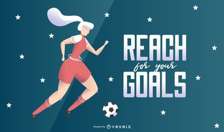 Reach For Your Goals Illustration