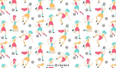 Frauenfußball-Musterdesign