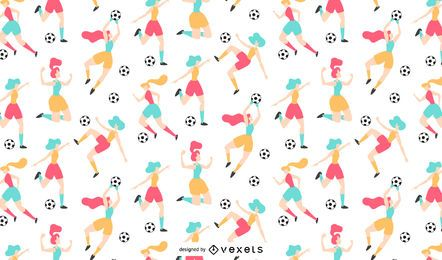Women soccer pattern design
