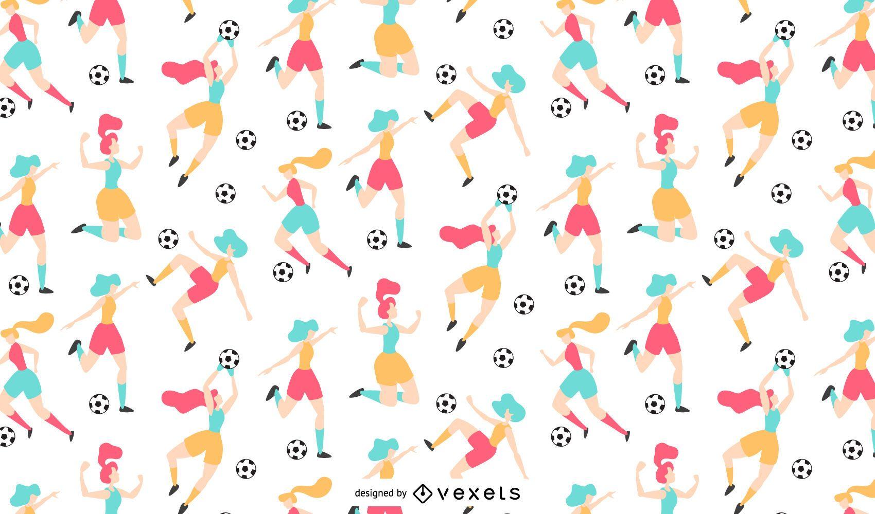Women soccer pattern design