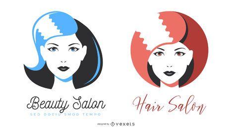 Ilustrações de salão de beleza e cabeleireiro