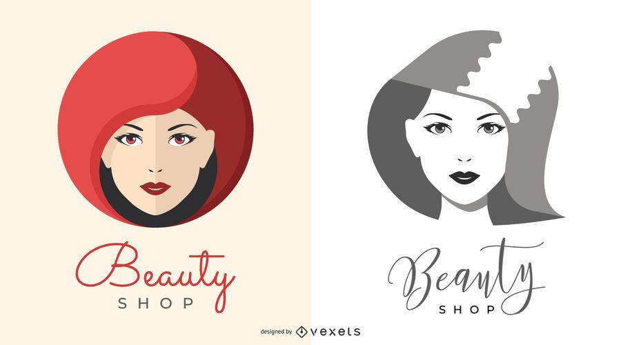 Ilustrações de logotipo de loja de beleza