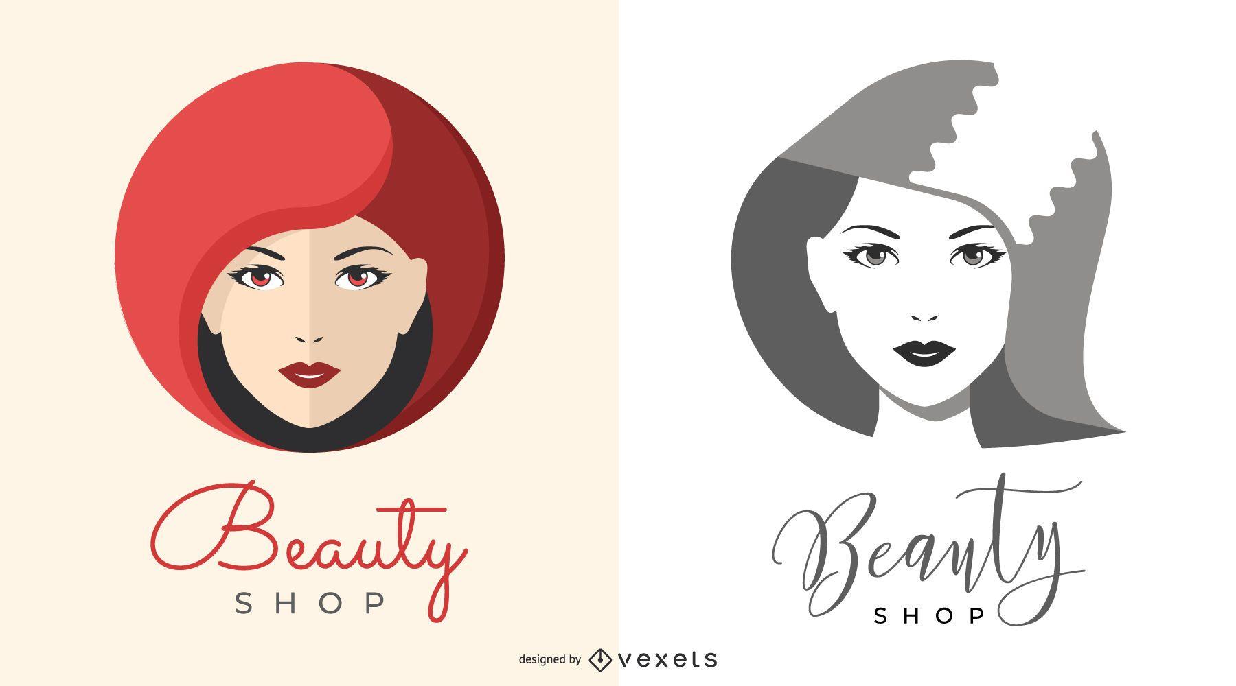 Beauty Shop Logo illustrations