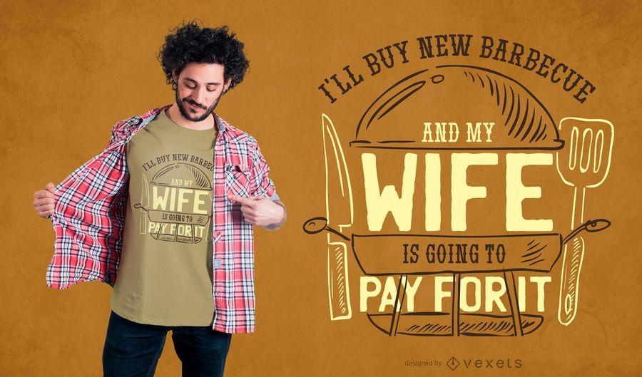 Comprando churrasco T-shirt Design