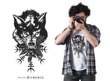 Wolf Head Graphic T-shirt Design