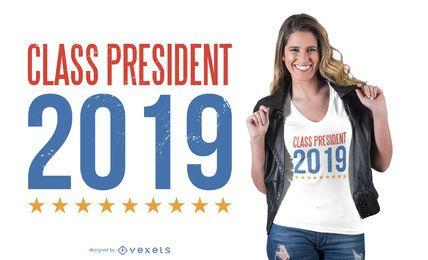Diseño de la camiseta del presidente de la clase