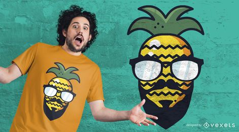 Hipster Ananas T-Shirt Design