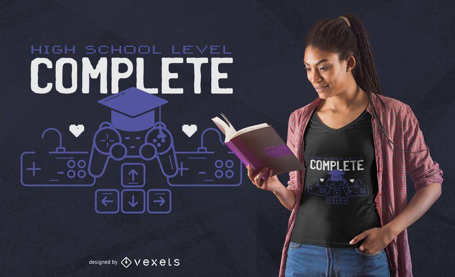 Projeto do t-shirt do jogo da graduação