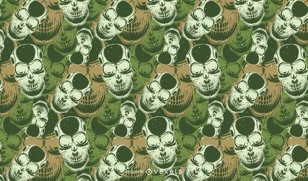 Projeto de vetor de padrão de crânio de camuflagem