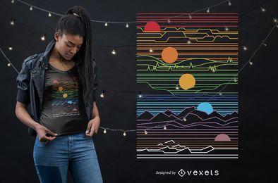 Sonne und Mond T-Shirt Design