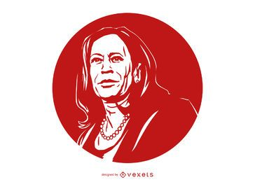 Kamala Harris Portrait Illustration