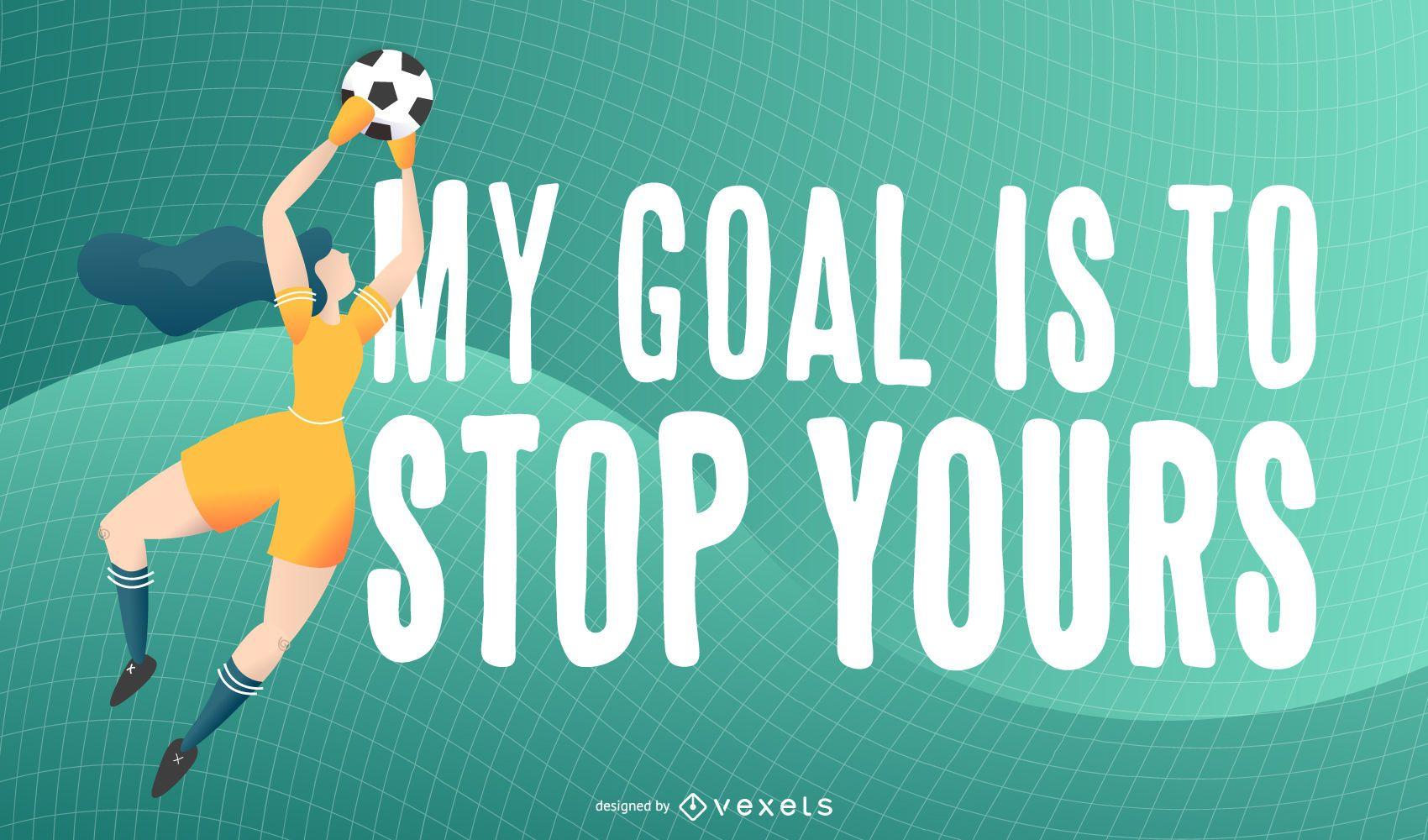 Ilustración de cita de jugador de fútbol
