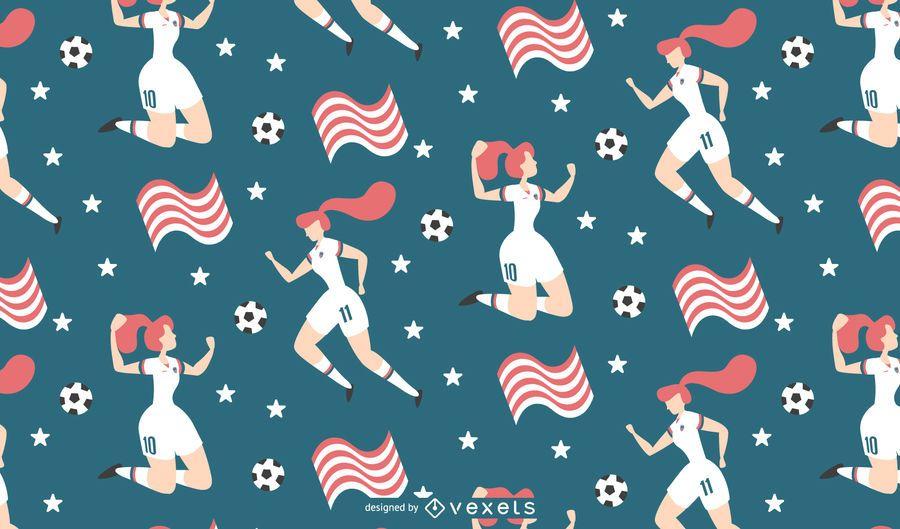 Ilustração de futebol das mulheres de fundo