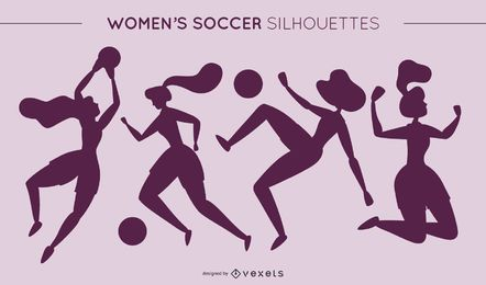 Womens Football Silhouettes
