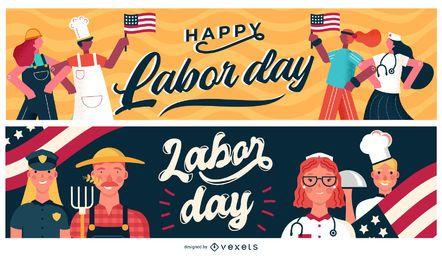 Labor Day Banner festgelegt