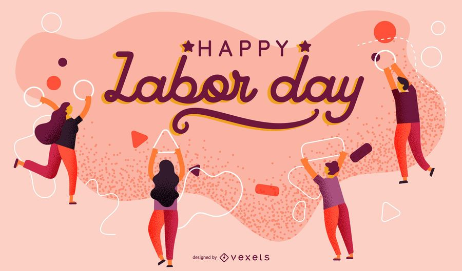 Design de cartaz abstrato do dia do trabalho