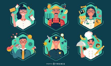 Ilustração dos trabalhadores do dia do trabalho