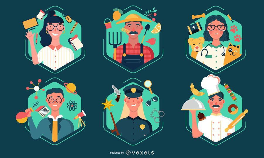 Labor day workers illustration