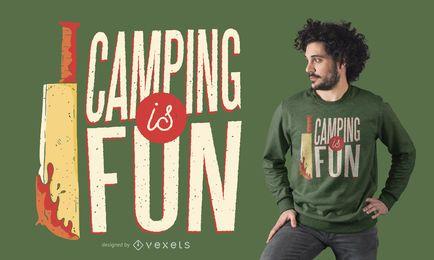 Design de t-shirt de terror de acampamento